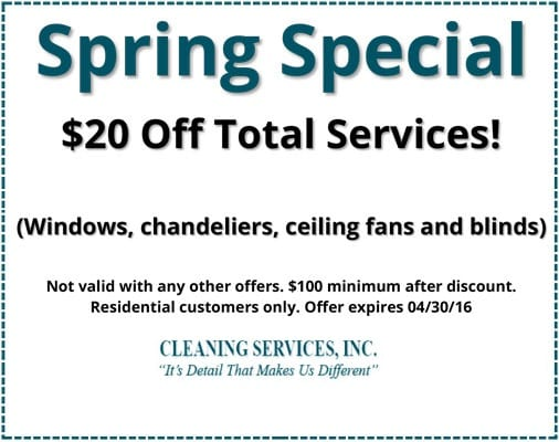 Springspecial 2016 Executive Cleaning Services Inc