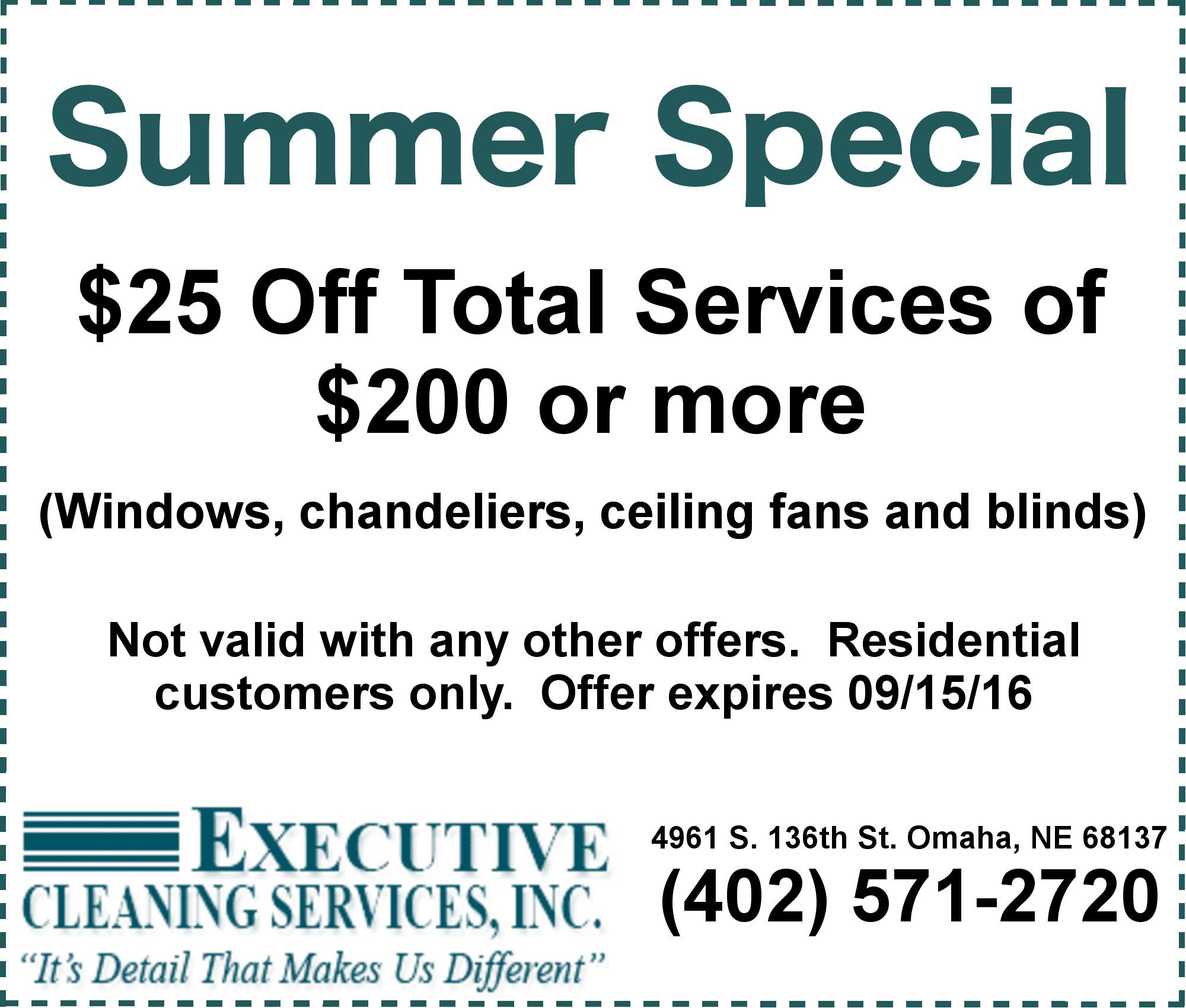 Summer Cleaning Coupon Omaha